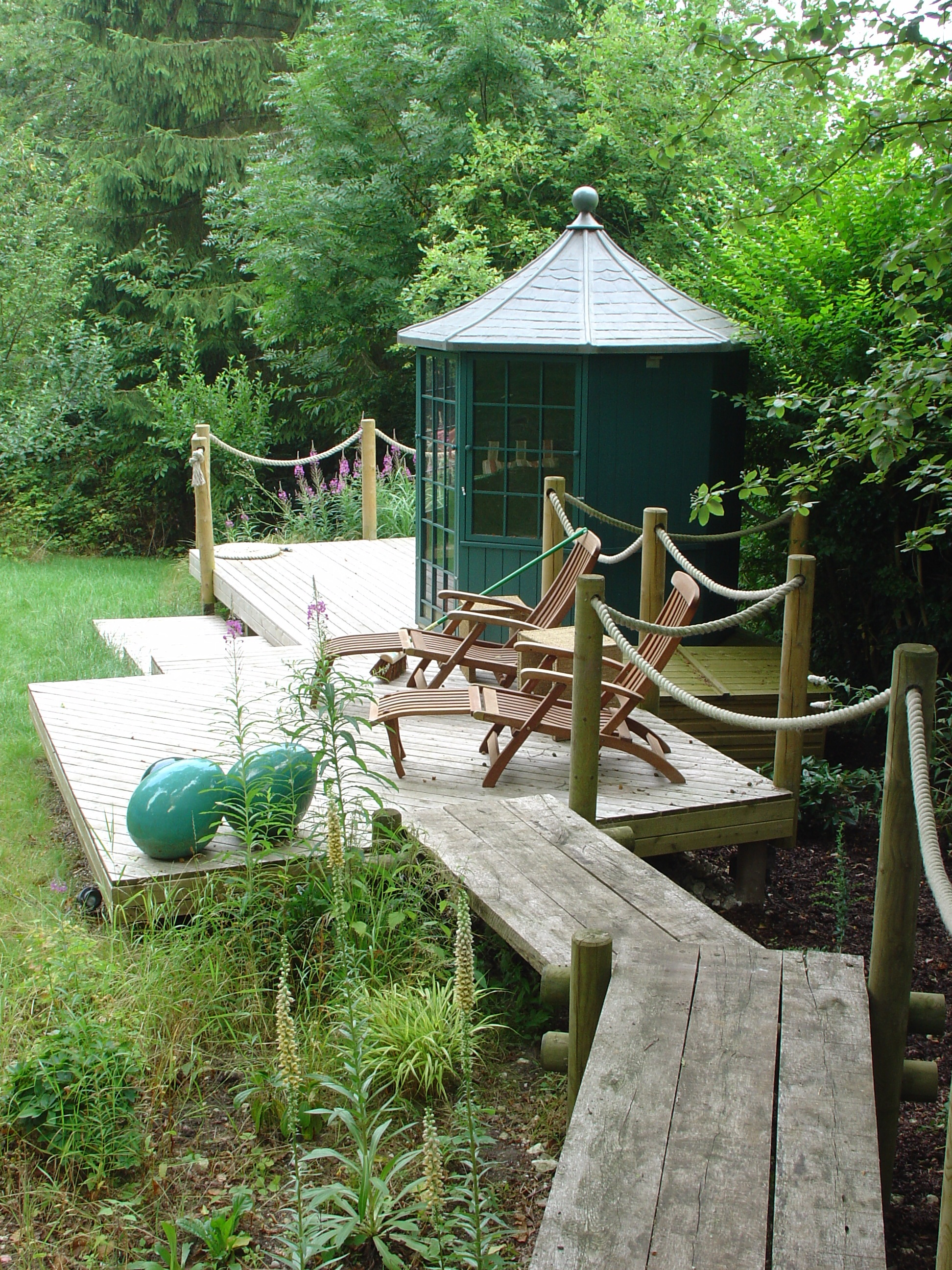 Woodland summerhouse