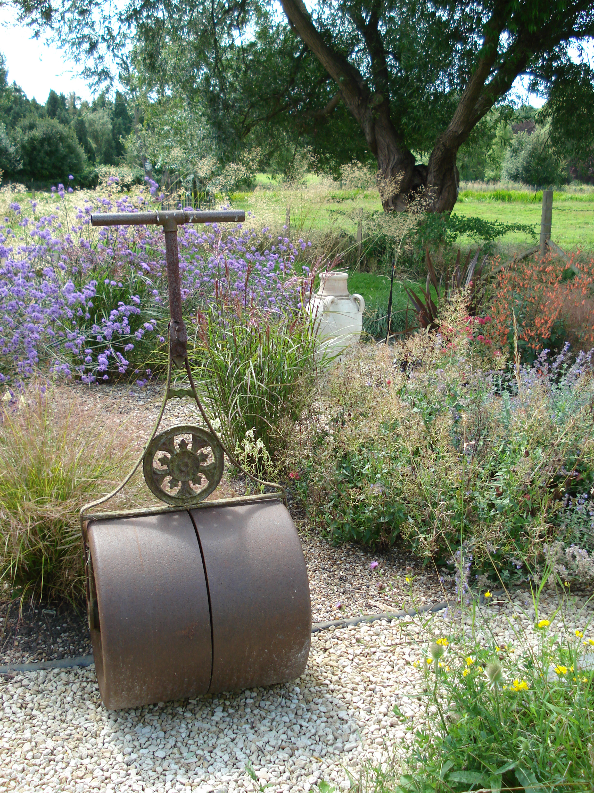 Antique details can give a garden a sense of history